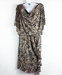 5/$10  R&M Richards Snake Print Elegant Dress